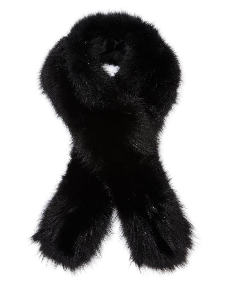 Verheyen London Legacy Black Fox Fur Stole Collar - Brand New  5