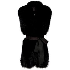 Verheyen London Legacy Black Fox Fur Stole Collar