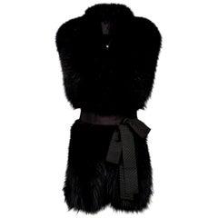 Verheyen London Legacy Black Fox Fur Stole Collar