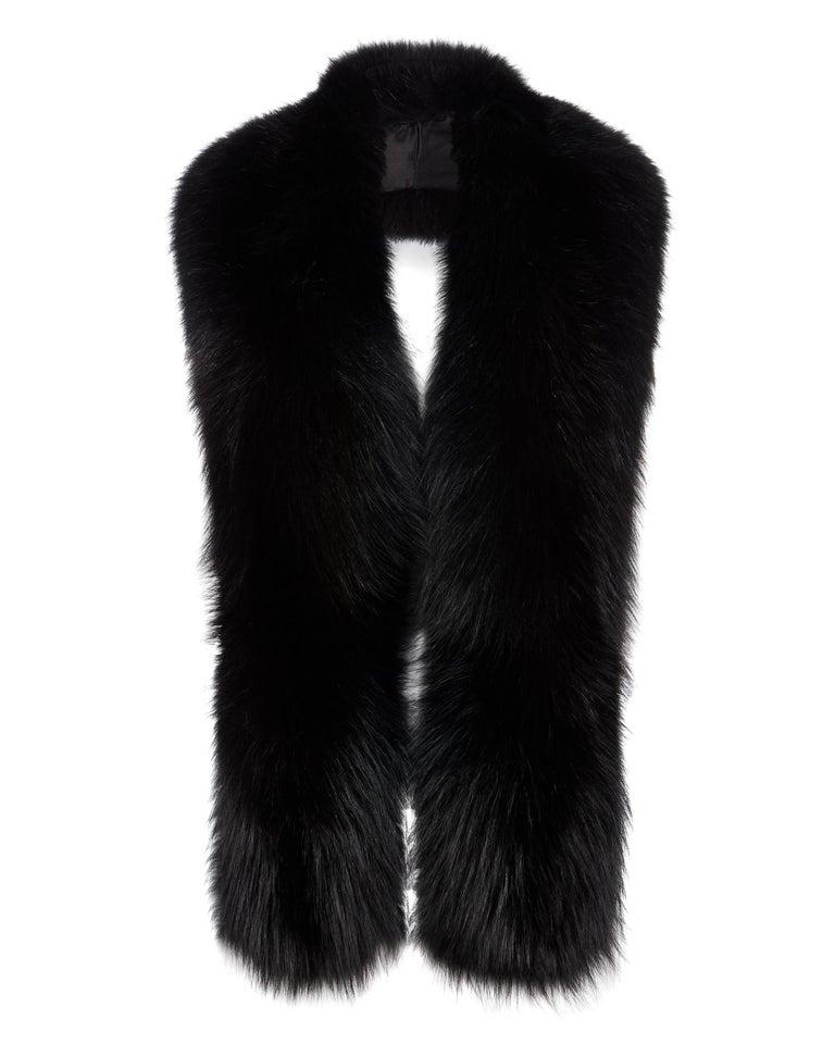 Verheyen London Legacy Black Fox Fur Stole - Worn in 3 ways - Brand New  In New Condition For Sale In London, GB