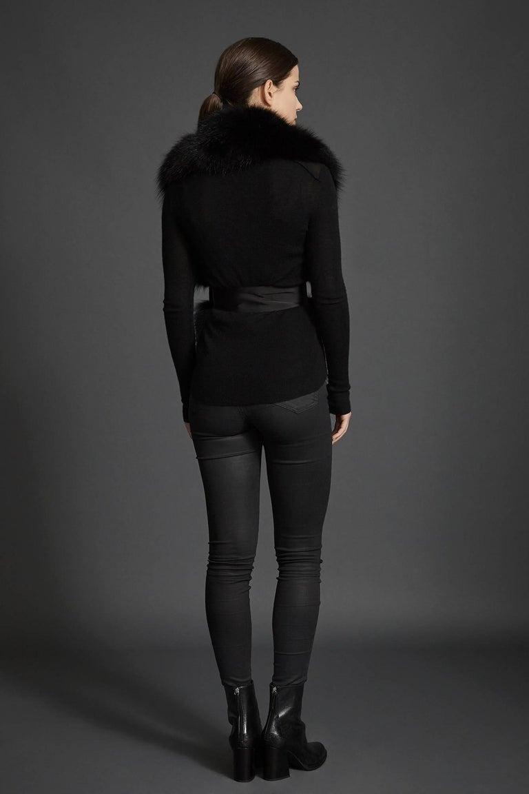 Verheyen London Legacy Black Fox Fur Stole - Worn in 3 ways - Brand New  For Sale 4