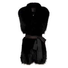 Verheyen London Legacy Black Fox Fur Stole - Worn in 3 ways - Brand New