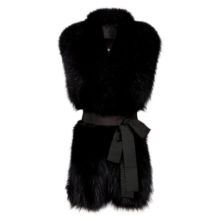 Verheyen London Legacy Black Fox Fur Stole - Worn in 3 ways - Brand New  For Sale