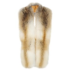 Verheyen London Legacy Stole Natural Golden Island Fox Fur - Silk &Monogramming