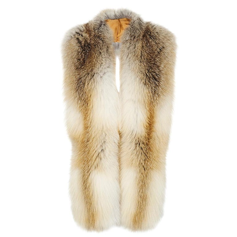 Verheyen London Legacy Stole Natural Golden Island Fox Fur - Brand New  (RRP Price)  This Natural Collection is Verheyen London's versatile collection for country or city wear, crafted in the finest and highest quality origin assured natural fox.  A