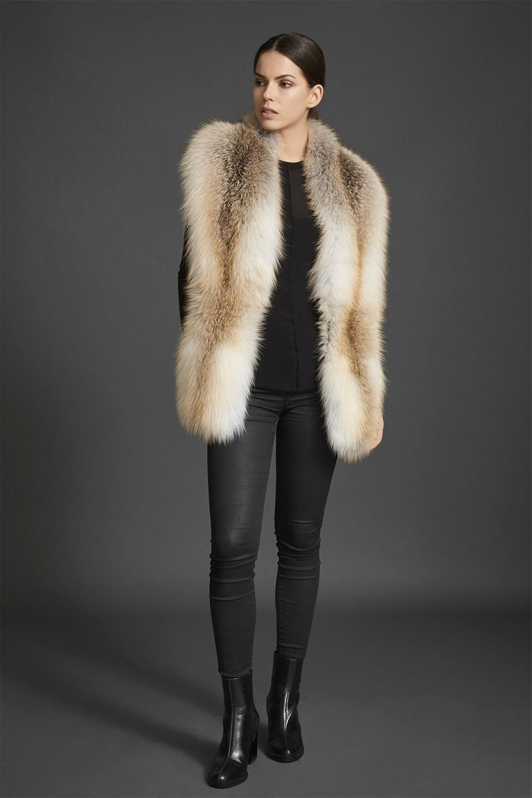 Verheyen London Legacy Stole Scarf Natural Golden Island Fox Fur - Brand New  In New Condition For Sale In London, GB