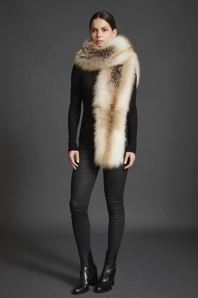 Verheyen London Legacy Stole Scarf Natural Golden Island Fox Fur - Brand New  1