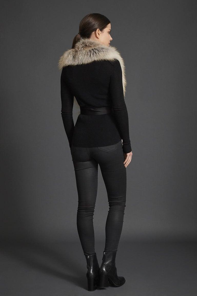 Verheyen London Legacy Stole Scarf Natural Golden Island Fox Fur - Brand New  2
