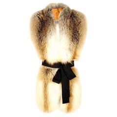 Verheyen London Legacy Stole Scarf Natural Golden Island Fox Fur