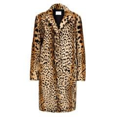 Verheyen London Leopard Print Coat in Natural Goat Hair Fur Size UK 10