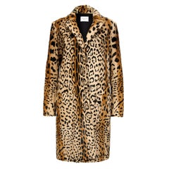 Verheyen London Leopard Print Coat in Natural Goat Hair Fur Size UK 12