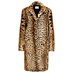 Verheyen London Leopard Print Coat in Natural Goat Hair Fur UK 10 - Brand New