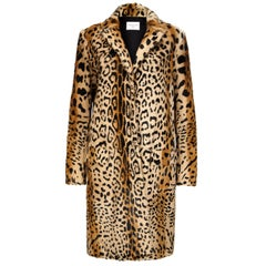 Verheyen London Leopard Print Coat in Natural Goat Hair Fur UK 12 - Brand New