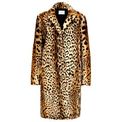 Verheyen London Leopard Print Coat in Natural Goat Hair Fur UK 6