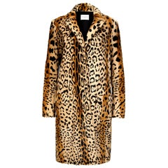 Verheyen London Leopard Print Coat in Natural Goat Hair Fur UK 8 - Brand New