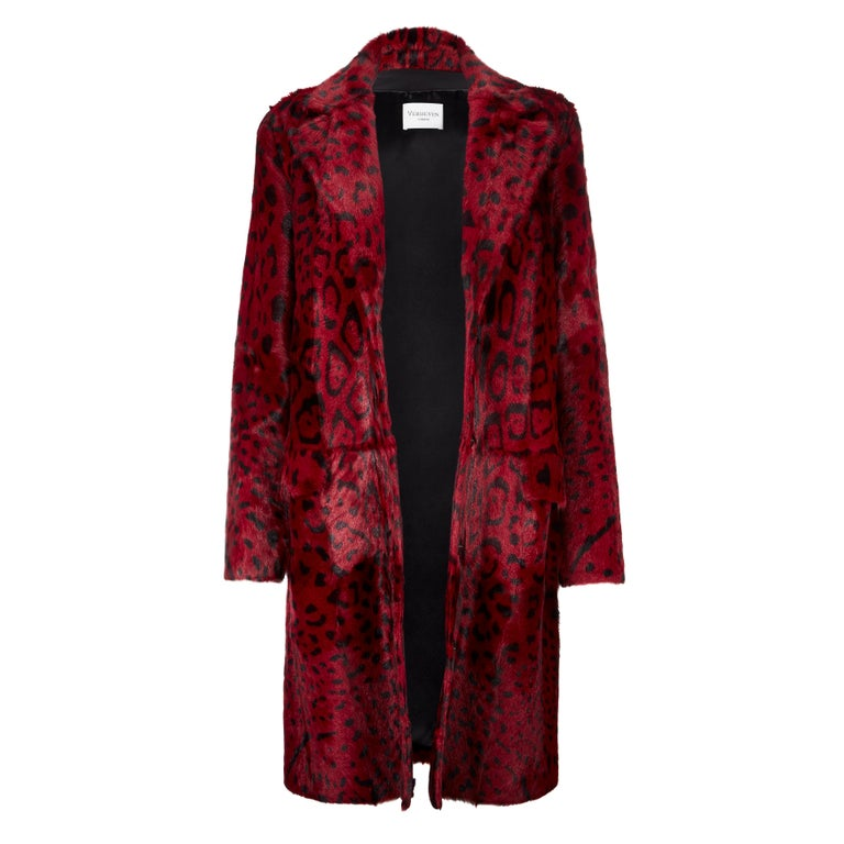 Verheyen London Leopard Print Coat in Natural Goat Hair Fur UK 10  RRP Price £1,695  This Leopard print coat is Verheyen London's classic staple for effortless style and glamour. A coat for dressing up and down with jeans or a dress.  PRODUCT