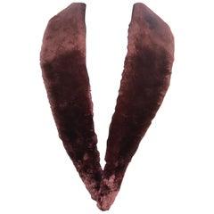 Verheyen London Mens Detachable Burgundy Beaver Fur Collar