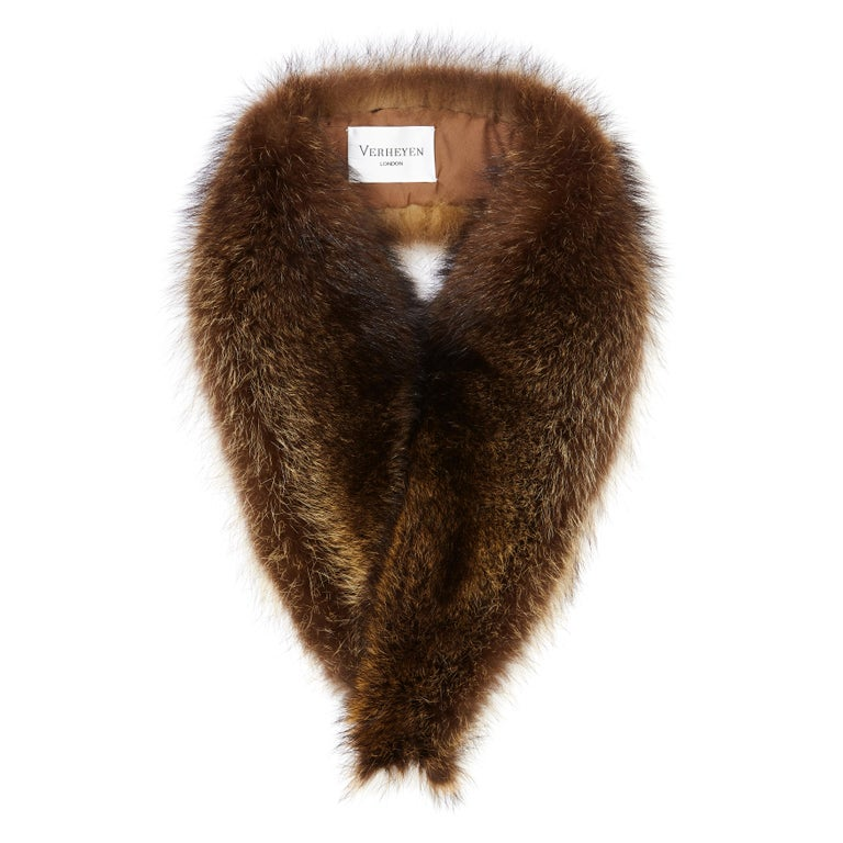 Verheyen London Mens Detachable Fur Collar in Raccoon - Brand New In New Condition For Sale In London, GB