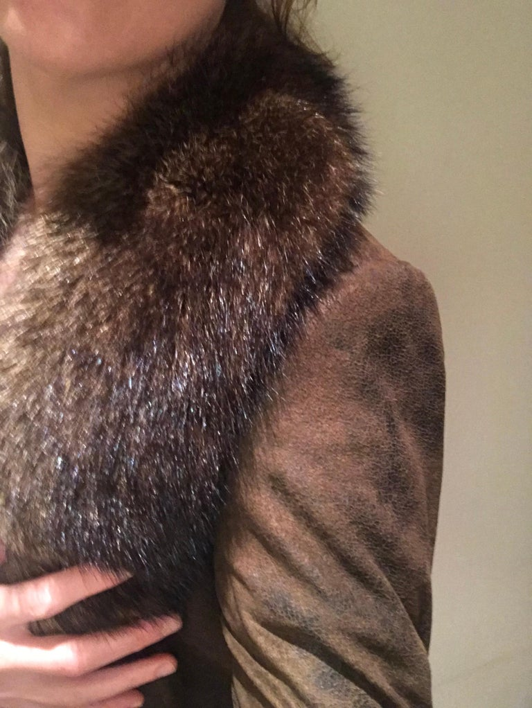 Women's or Men's Verheyen London Mens Detachable Fur Collar in Raccoon - Brand New For Sale