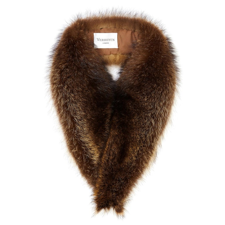 Verheyen London Mens Detachable Fur Collar in Raccoon - Brand New For Sale