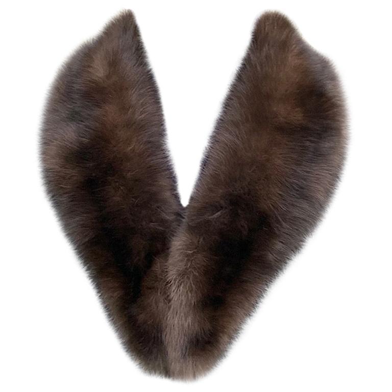 Verheyen London Mens Detachable Russian Barguzin Sable Fur Collar