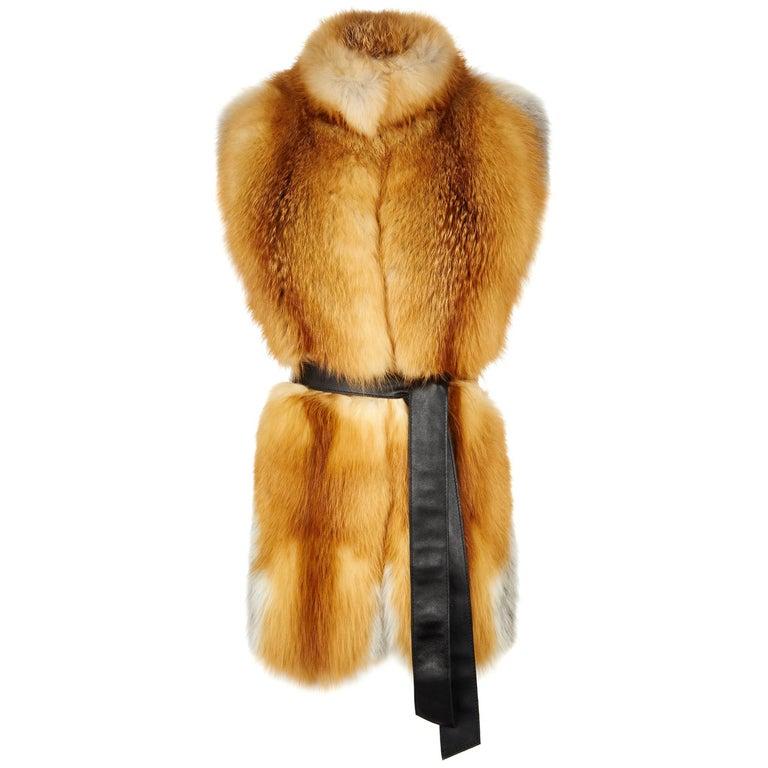 Verheyen London Nehru Collar Stole in Natural Red Fox