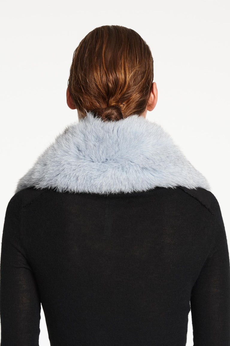 Verheyen London Peter Pan Collar in Iced Blue Fox Fur  For Sale 1