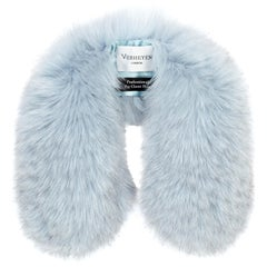 Verheyen London Peter Pan Collar in Iced Blue Fox Fur