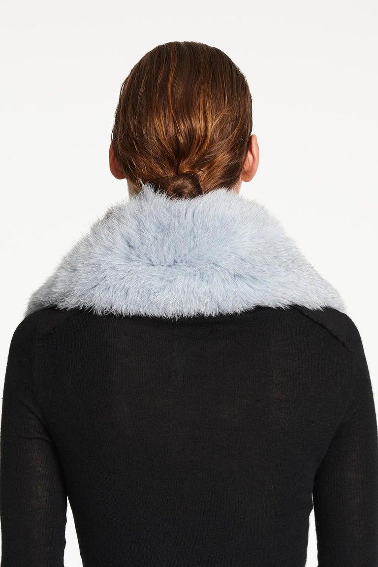 Verheyen London Peter Pan Collar in Iced Blue Fox Fur & lined in silk  For Sale 1