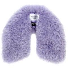 Verheyen London Peter Pan Collar in Lilac Fox Fur and lined in silk