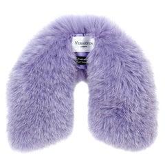 Verheyen London Peter Pan Collar in Lilac Fox Fur and lined in silk - New