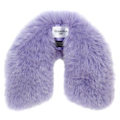 Verheyen London Peter Pan Collar in Lilac Fox Fur - Brand New