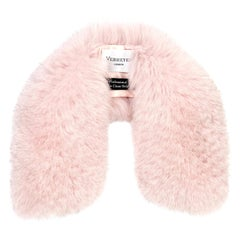 Verheyen London Peter Pan Collar in Pastel Rose Pink Fox Fur - Brand New