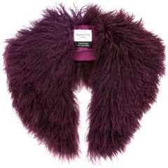 Verheyen London Shawl Collar in Garnet Mongolian Lamb Fur - Brand New