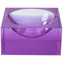 Veritas Lavender Concave Glass Square Vide Poche