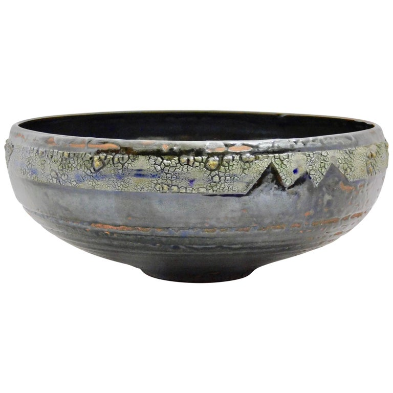 Verkovina wheel thrown earthenware bowl by ceramicist Andrew Wilder.