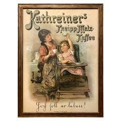 Verlag Von Kathreiner Poster Kathreiers Kneipp Malz Kaffee Framed