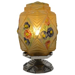 Verlys Des Hanots French Art Deco Table Lamp, circa 1930