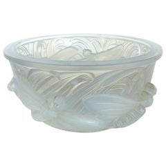 Verlys France Opalescent Glass Dragonfly Bowl
