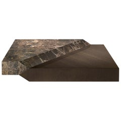Vermeer Central Table in Wood and Marble by Roberto Cavalli Home Interiors
