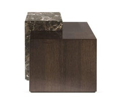 Vermeer Side Table in Wood and Marble by Roberto Cavalli Home Interiors