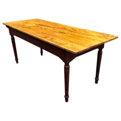 Vermont Country Pine Farm Table with Original Painted Base