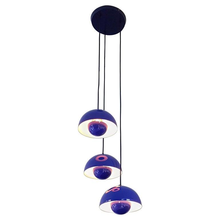 Verner Panton 1970s Flower Pot Cluster Lamp Ceiling Lamp For Sale