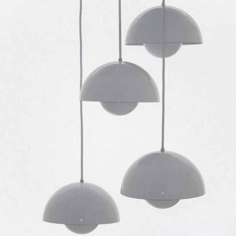 Aluminum Verner Panton 8 Flower Pot Ceiling Lamp by Louis Poulsen, 1968.   110 v or 240 v For Sale