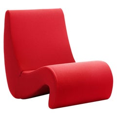 Verner Panton Amoebe Chair in Foam and Fabric by Vitra