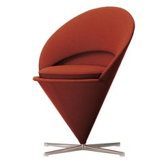 Verner Panton Cone Chair in Steel and Fabric by Vitra