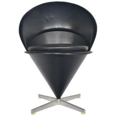 Verner Panton Cone Chair, Space Age Danish Modern Midcentury
