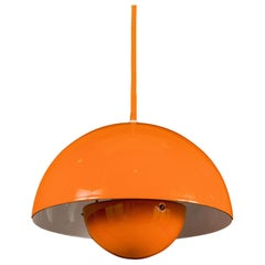 Verner Panton 1´st. Edition Flowerpot Pendant Light for Louis Poulsen, Denmark
