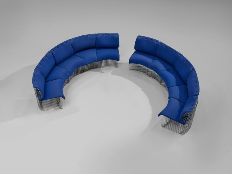 Steel Verner Panton for Fritz Hansen 'Pantonova' Sofa For Sale