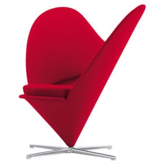 Verner Panton Heart Cone Chair in Steel, Foam and Fabric by Vitra
